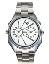 RICO SORDI Mens Rectangle Multifunctional Dual Time Steel Watch_RSMW_S10DT