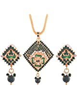 Ganapathy Gems Gold Plated Pendant Set for Women (6149)