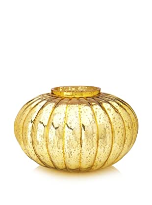 Jamie Young Large Fluted Ball Vase, Italian Gold