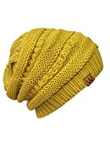 Wrapables Knitted Slouchy Beanie Beret, Saffron Yellow, Saffron Yellow