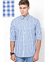 Blue Slim Fit Shirt Peter England