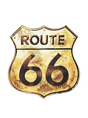 ArtopWeb Panel de Madera Route 66 Golden Sign