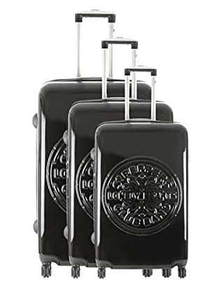 Les Beatles by Platinium Set 3 Trolleys 4 Ruedas Lonely (Negro)