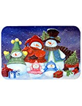 Caroline's Treasures PJC1080JCMT Merry Christmas from Us All Snowman Kitchen or Bath Mat, 24 by 36 , Multicolor