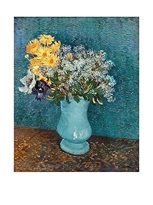 LegendArte  Wandbild Blumentopf mit Lila, Margeriten und Anemonen von Vincent Van Gogh