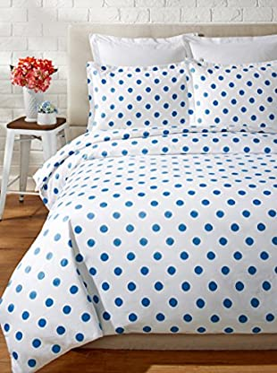 Melange Home 400 Thread Count 100% Cotton Watercolor Dots Duvet Set