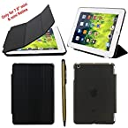 Elite Ultra Thin Smart Flip Foldable Flip Case cover for Apple iPad Mini 1 & 2 Retina Tablet with stylus (Sleep/wakeup) (Black)