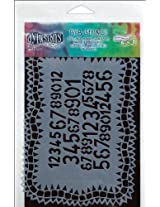 Ranger Dyan Reaveley's Dylusions Stencils, 5 by 8-Inch, Number Jumble