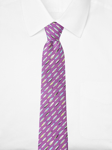 Emilio Pucci Men's Marquise Stripe Tie, Purple/Blue