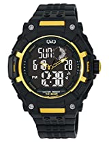 Q&Q Regular Analog-Digital Black Dial Men's Watch - GW80J001Y