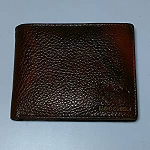 RL Men's W 37- Br Brown Leather Neo Stitch Wallet