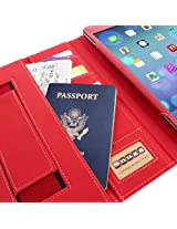 Snugg™ iPad Air 2 Case - Executive Smart Cover With Card Slots & Lifetime Guarantee (Red Leather) for Apple iPad Air 2 (2014)
