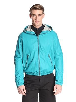 Jil Sander Men's Agrigento Leather Jacket (Persina Green)