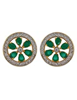 Affinity Green Floral Stud Earring