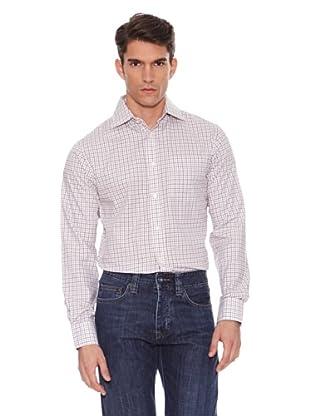 Hackett Camisa Cuadros (Lila / Blanco / Marrón)