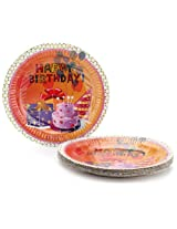 Karmallys Paper Plates Happy Birthday Print - 22 cm
