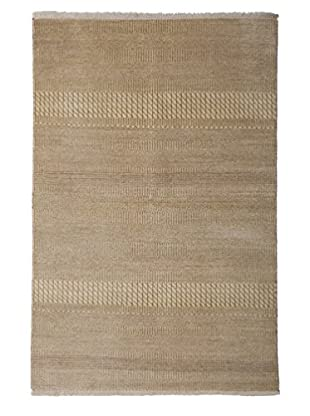 Darya Rugs Modern Oriental Rug, Beige, 4' 1