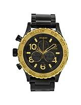 Nixon 42-20 Chronograph Gunmetal And Gold-Tone Men'S Watch - Nxa0371228