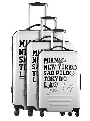 American Revival Set 3 Trolleys Jet Lag (Blanco)