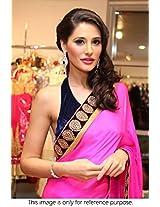 Bollywood Premium Replica Nargis Fakhri Chiffon Saree In Pink Colour NCP781