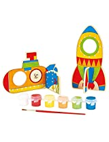 Hape - Paint it Yourself Space Voyage Wooden Craft Kit