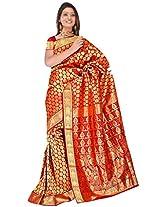 Sehgall Saree Indian Ethnic Professional Handloom Silk Sarees Maroon