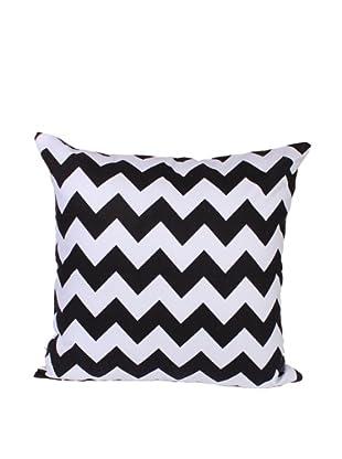 Malabar Bay Chevron Pillow (Black)