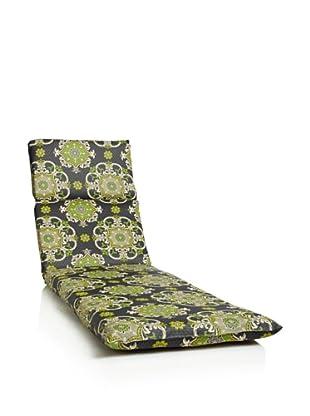 Waverly Sun-n-Shade Garden Crest Chaise Lounge Cushion (Onyx)