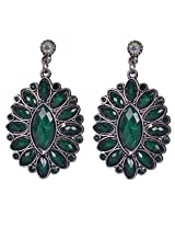 Saadi Gali Crystal Dangle and drop Earring For Women (Metallic)