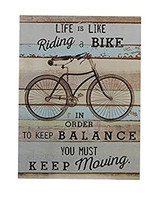 Premier Interiors Wandbild Bike wall Plaque