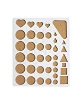 Good Quality Plastic Quilling Mould Stencil - For Creating Various Shapes of Quilling Paper Strips - Large Size