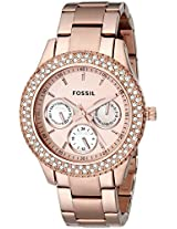 Fossil Stella Analog Gold Dial Women's Watch - ES3003