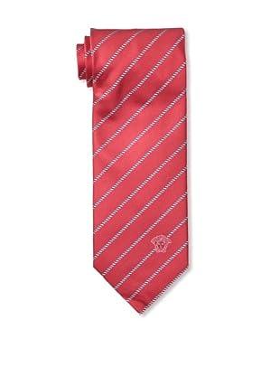 Versace Men's Striped Tie, Red