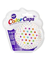 Wilton 415-0627 36-Pack Color Baking Cup, Standard, Dots Rainbow