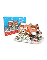 Daron Christmas House 3D Puzzle with Lights (43-Piece)
