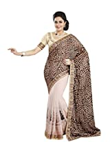 Vibes Women's Weightless Saree, With Fency Border (S20-1251-B_ Multi-Coloured)