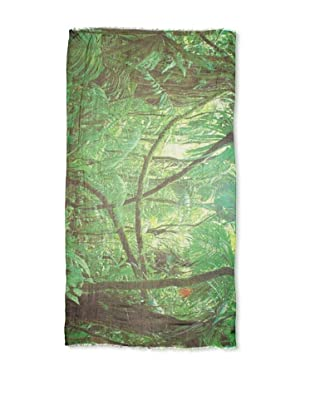 CHIC Women's Jungle Digital Woven Viscose Scarf, Rainforest, One Size