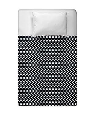 e by design Geometric Duvet Cover (Black)
