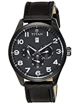 Titan Purple Multi-Function Analog Black Dial Men's Watch - 9483NL02J