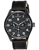 Titan Purple Multi-Function Analog Black Dial Men's Watch - 9483NL02J