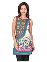 18 FIRE Printed Cotton Kurti with Patti and Zari work