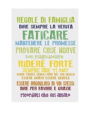 Panel Decorativo Family Rules Blanco