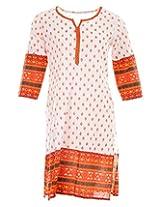 Pure Nautanki Women's Cotton Round Neck Kurti (Sk-2057_XL, Off-White, XL)