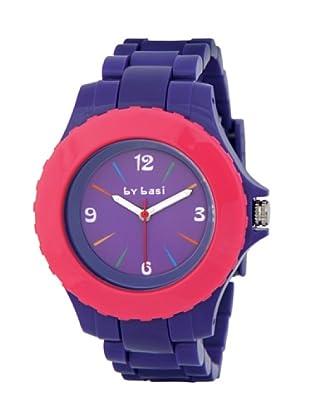 BY BASI A1012U05 - Reloj Unisex movimiento de cuarzo con correa de policarbonato Lila / Rosa