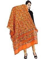 Banjara Women's Cotton Dupatta (Orange)
