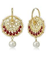 Ava Traditional Drop Earrings for Women (Golden) (E-VS-1882)