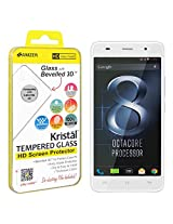 Amzer Kristal HD Tempered Glass Screen Protector for Lava Iris X8 - Retail Packaging -