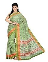 De Marca Green Silk SS814 Saree