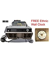 DVR Shelf with Sockets, Power Cable, Metal Body & Wall Mountable + Free Mobile Holder