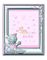 Silver Touch USA Sterling Silver Picture Frame and Booklet Set, Baby Girl